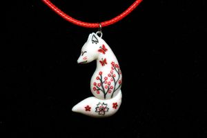 The Oriental Fox pendant by Ailinn-Lein