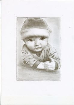 A pencil drawing of a baby by ChristianCowgirl116