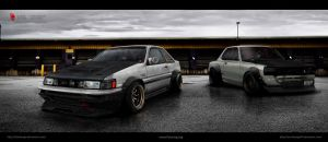 Toyota ae86 levin -  Nissan kpgc- 10 by RibaDesign