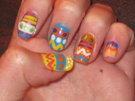 Easter Nails -left- by yellow-tulips