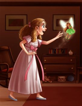 Wendy and Tinkerbell by courtneygodbey