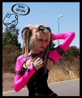 Pink-black cyber star shrug by love-on-a-stick