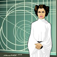 Carrie Fisher Cartoon by MarcusTheArtist