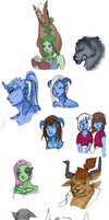WoW and GW 2 sketchdump by xAlalax