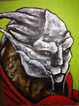 Turian painting WiP 2 by mad-dragon249