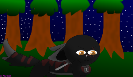AT The Night Hunter by Hawkpelt22