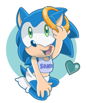 Baby Sonic the Hedgehog by TheLeoNamedGeo