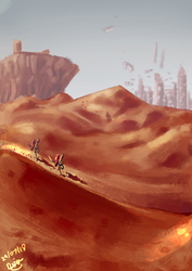 Desert View by DMonkeyillustrations