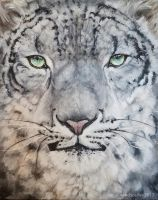 Acrylics Snow Leopard by WindsCaller