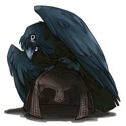 Hegaan, A Completely Normal Raven by EvaWin