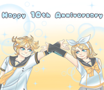 Happy 10th Anniversary, Rin and Len!(+speedpaint) by LeeNeji4evs