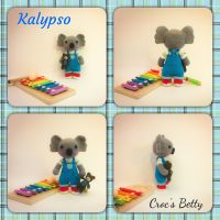 Kalypso, little Koala with her Teddy Bear by Crocsbetty