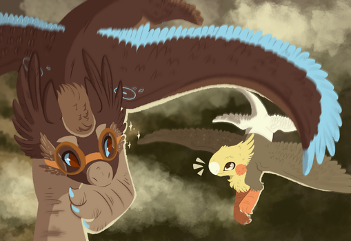Flying with a friend by ToonieCheckers
