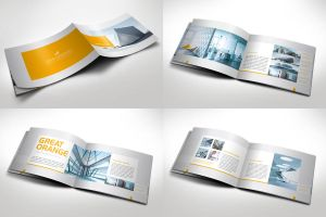 Modern Horizontal Brochure by Mikingers