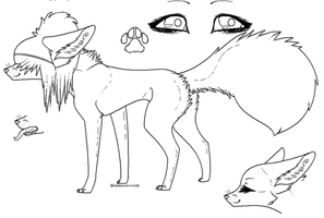 Female Scene Fox OR Dog Lines by RainbowBOXORZZ
