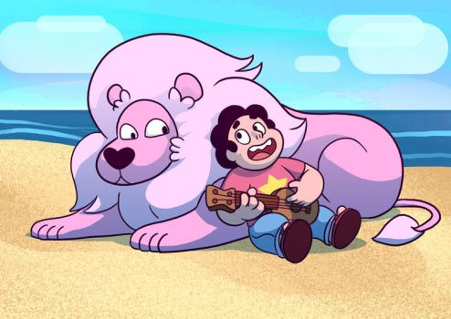 Steven and Lion by charco