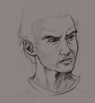Portrait Sketch by Paper-Domino