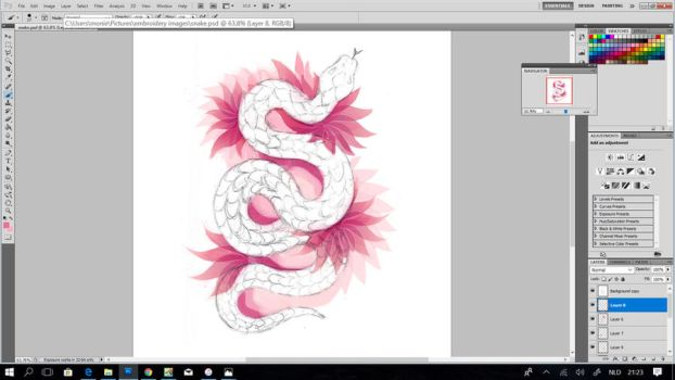 Snake embroidery concept ~WIP by CyanFox3