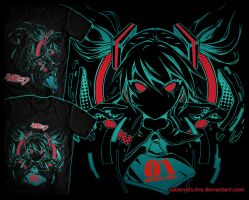 I AM YOUR MELODY (Hatsune Miku T-Shirt contest ) by subaru01rins