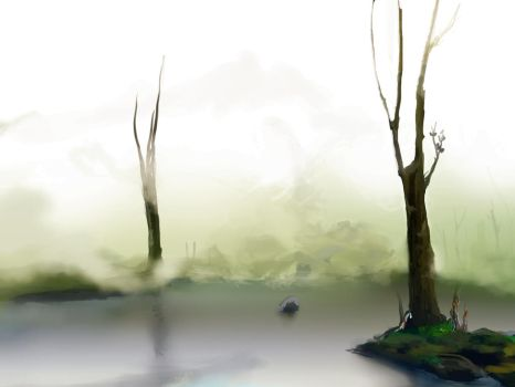 Wallpaper: foggy morning by Waterdroplet-s