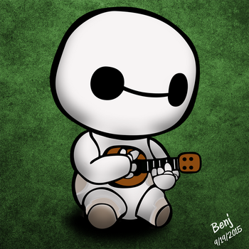 Baymax with a ukulele by ojneb12