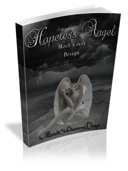 3D Hopeless Angel Mock Book Cover Large Size by MichellesParanormal