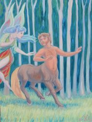 The Centaur and the Flower Faerie by MariaAragon64