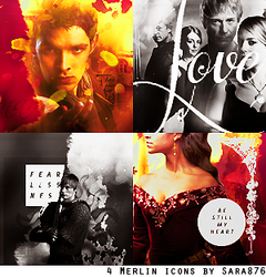 4 Merlin icons by Sara876