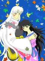 Sesshomaru and Rin older by ArisuAmyFan