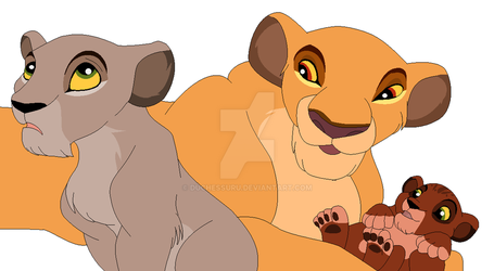 The Queen and her cubs by redwolf2003and2200
