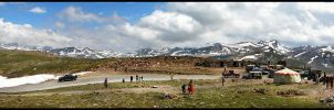 Stop on Babusar Top by OmerTariq