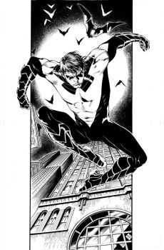 Commission Nightwing by eberferreira