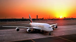 Amazing Emirates Airbus A380 and Sunset by ROGUE-RATTLESNAKE