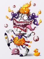 Creepy Clown : Halloween by polawat