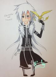 D.Gray-Man: Allen Walker and Timcanpy by LyDynasty