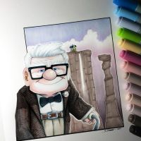 Carl from Up - Drawing by LethalChris