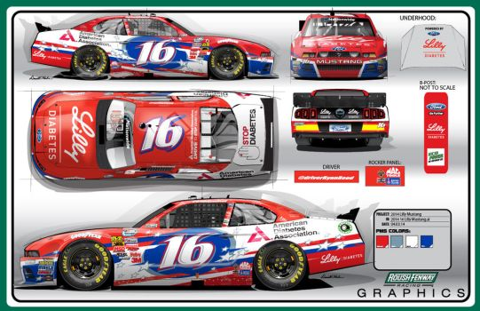 2014 #16 Lilly Roush Fenway Ford Mustang by graphicwolf