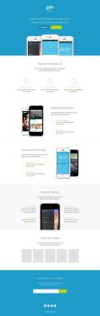 Hype Landing Page PSD FREE by Shegystudio