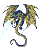 Blue Dragon, Egyptian by ProdigyDuck