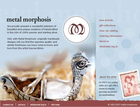 Metal Morphosis Inc Website by ZGDA