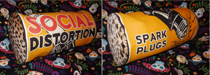 Upcycled Social Distortion Bag by Miss-Holly-Horror