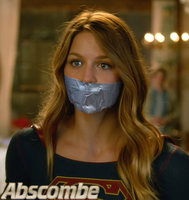 Melissa Benoist tape gagged as Supergirl pic #4