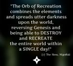 Nightfall - Orb of Recreation Quote by AKoukis
