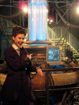 Missy cosplay -Messing with the Doctor's TARDIS II by ArwendeLuhtiene