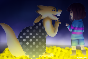 Alphys and Frisk Confession by PC-Doodle