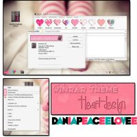 Theme For Winrar HeartDesing by DaniaPeaceeLovee