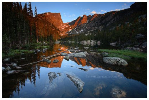 First Light: Dream Lake by Nate-Zeman