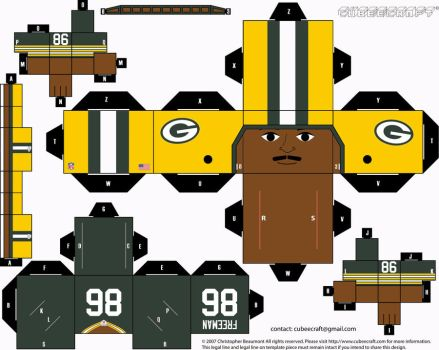 Antonio Freeman Packers Cubee by etchings13