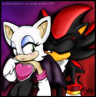Rouge and Shadow by BluieJoe