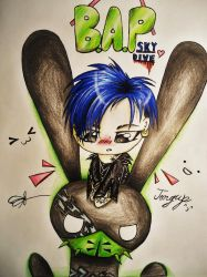 B.A.P. Skydive Jongup by Cre8iveWing
